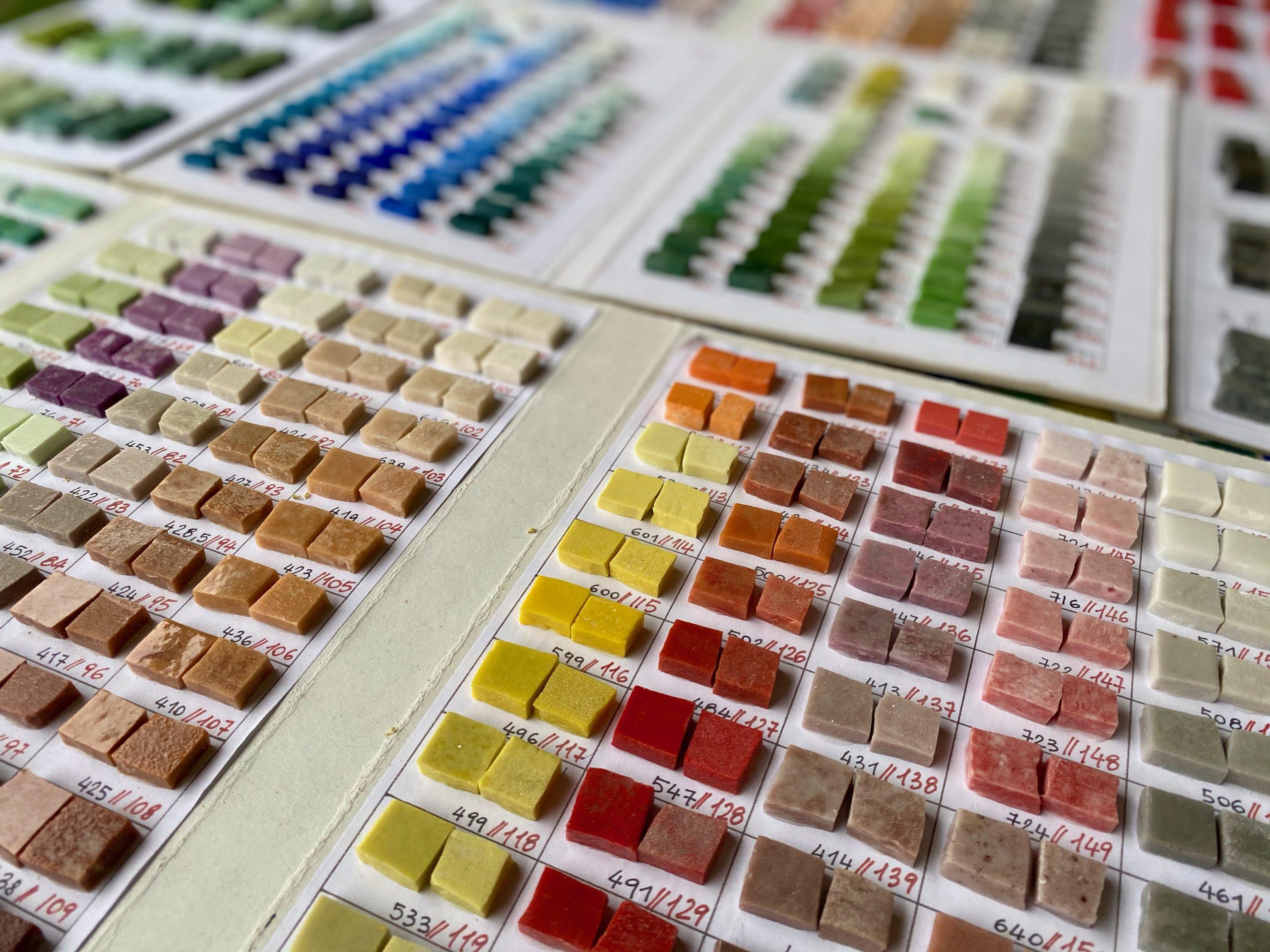 campionario colori Smalti mosaico morassutti