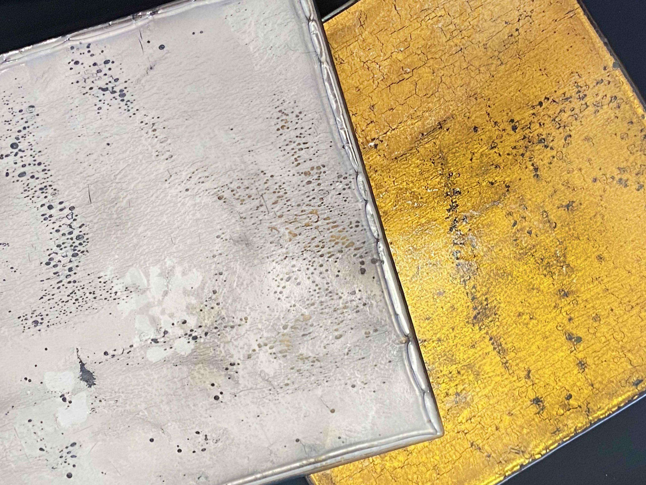 oro giallo e oro bianco per mosaico